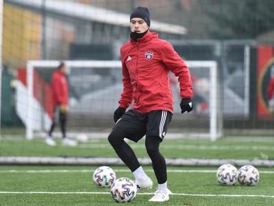 Hráč Trnavy Martin Bukata počas prvého tréningu v zimnej príprave pred jarnou časťou Fortuna ligy.