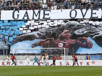 Snímka z dohrávky 8. kola Fortuna ligy ŠK Slovan Bratislava - FC Spartak Trnava