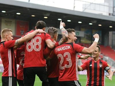 Radosť hráčov FC Spartak