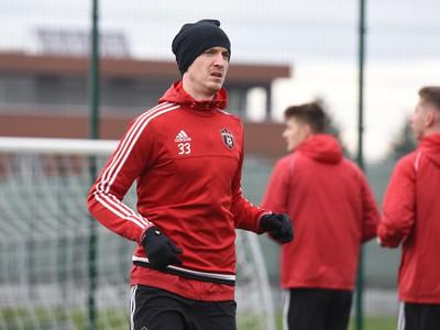 Hráč Trnavy Ján Vlasko počas prvého tréningu v zimnej príprave pred jarnou časťou Fortuna ligy.