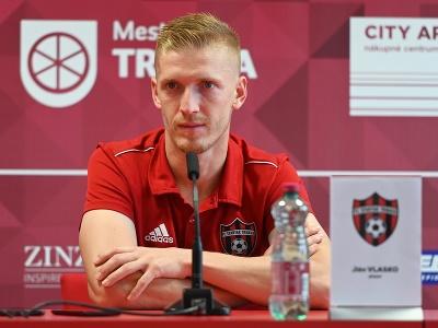 Na snímke hráč Trnavy Ján Vlasko počas tlačovej konferencie