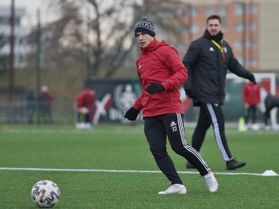 Hráč Trnavy Martin Mikovič počas prvého tréningu v zimnej príprave pred jarnou časťou Fortuna ligy.