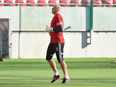 Brankár Trnavy Martin Chudý počas tréningu