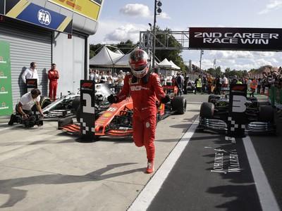 Víťazná radosť hrdinu Leclerca