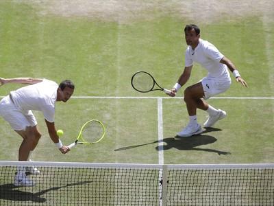 Dvojica Polášek - Dodig počas semifinálového súboja