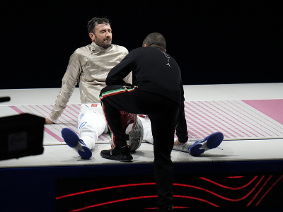 Porazený taliansky finalista Luigi Samele
