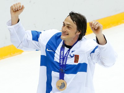 Fínsky hokejista Teemu Selänne