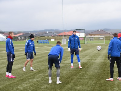Hráči Senice počas prvého tréningu v zimnej príprave pred štartom jarnej časti Fortuna ligy