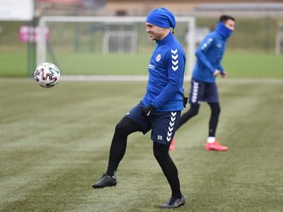 Kapitán Senice Juraj Piroska počas prvého tréningu v zimnej príprave pred štartom jarnej časti Fortuna ligy