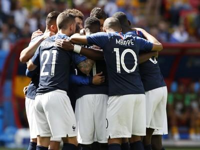 Radosť hráčov Francúzska