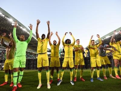 Víťazné oslavy futbalistov Nantes