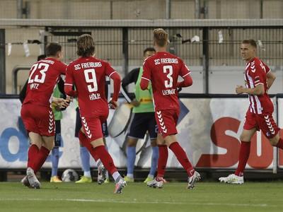 Radosť hráčov Freiburgu