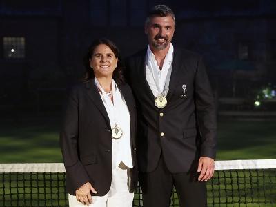 Goran Ivaniševič a Conchita Martinezová