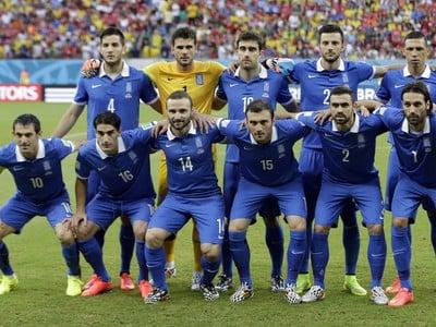 Grécki futbalisti pred osemfinálovým