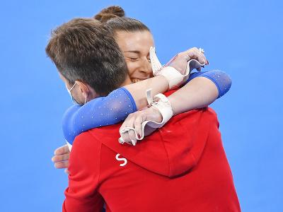Barbora Mokošová a tréner
