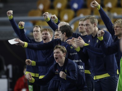 Švédski hádzanári sa tešia