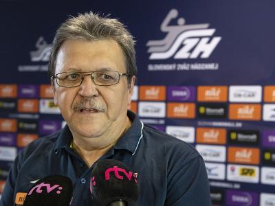 Na snímke tréner ženskej hádzanárskej reprezentácie Slovenska Pavol Streicher