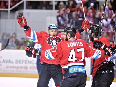 Radosť hráčov HC '05 iClinic Banská Bystrica