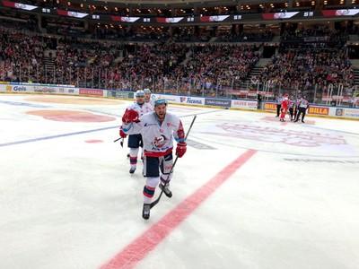 Marek Hovorka oslavuje gól