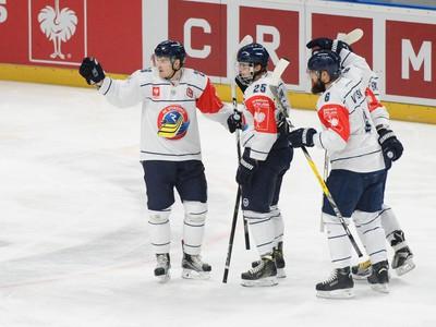 Radosť hráčov HC Vítkovice
