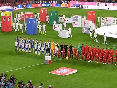 Futbalisti Bayernu Mníchov (vpravo)