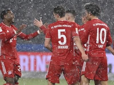 Hráči Bayernu sa tešia