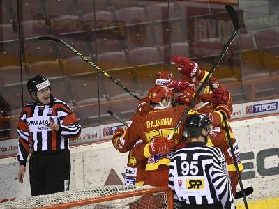 Hráči Trenčína sa radujú z gólu