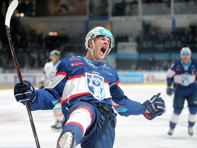 Matej Paulovič oslavuje gól