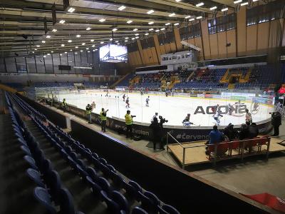 Zvolenský zimný štadión počas prvého zápasu finále Kaufland play off Tipos extraligy