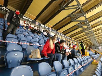 Fanúšikovia Zvolena počas prvého zápasu finále Kaufland play off Tipos extraligy