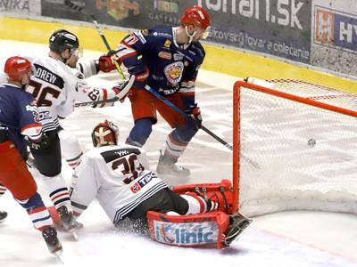 Momentka zo zápasu HC'05 Banská Bystrica - HKM Zvolen