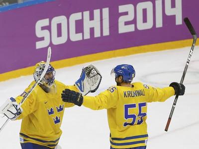 Švédi Henrik Lundqvist a Niklas Kronwall