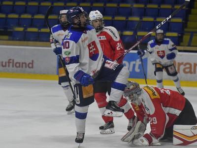 Zápasová momentka z duelu Slovensko U18 - Švajčiarsko U18