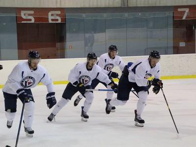 Hráči Slovana počas tréningu