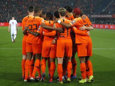 Radosť hráčov Holandska