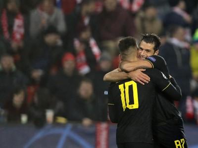 Inter oslavuje gól do