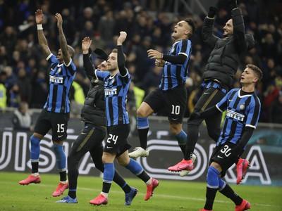 Radosť hráčvo Interu Milána