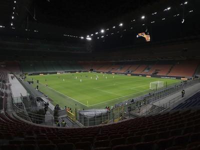 Prázdny futbalový stánok Interu