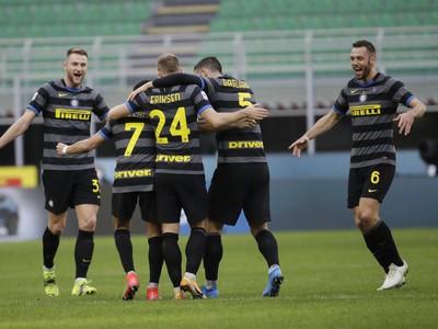 Radosť hráčov Interu Miláno