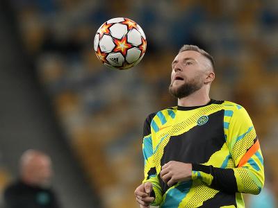 Milan Škriniar pred zápasom