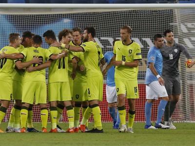 Českí futbalisti sa radujú
