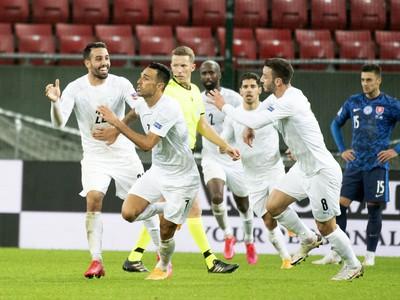 Radosť Izraelu po góle Zahaviho