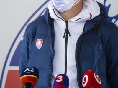 Šprintér Ján Volko počas tlačovej konferencie k halovým Majstrovstvám Európy v poľskom meste Toruň