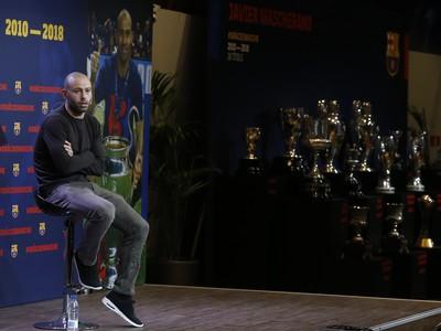 Javier Mascherano na tlačovej konferencii