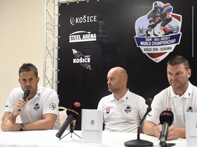 Tlačová konferencia Slovenskej hokejbalovej únie k majstrovstvám sveta v hokejbale v roku 2019