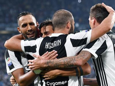 Hráči Juventusu sa radujú