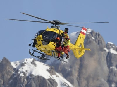 Kajsa Vickhoff Lieová musela byť z trate transportovaná vrtuľníkom