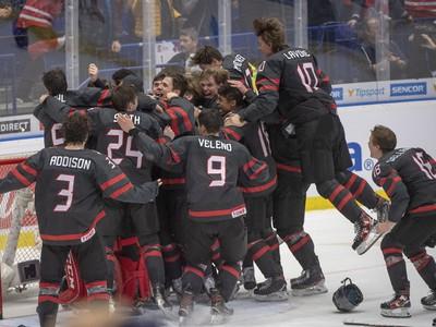 Kanadský jasot po triumfe