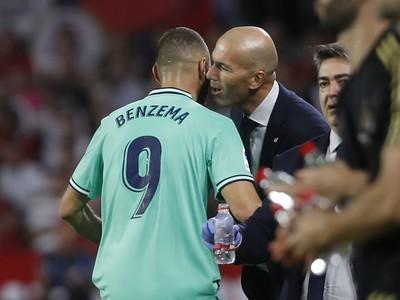 Karim Benzema a Zinedine Zidane