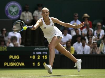 Karolína Plíšková na Wimbledone